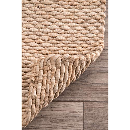 NuLOOM Hailey Handwoven Accent Jute Rug 2 X 3 Natural 0 3