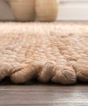 NuLOOM Hailey Handwoven Accent Jute Rug 2 X 3 Natural 0 4 300x360
