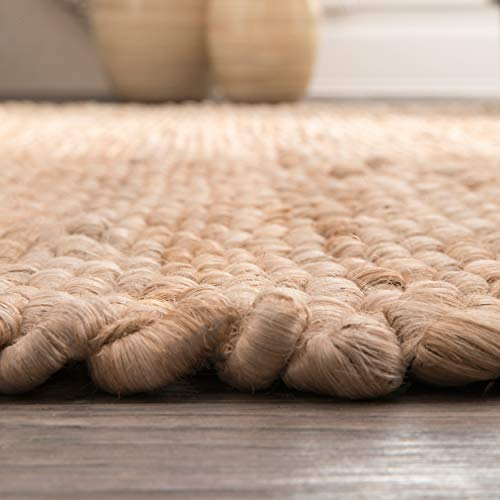 NuLOOM Hailey Handwoven Accent Jute Rug 2 X 3 Natural 0 4