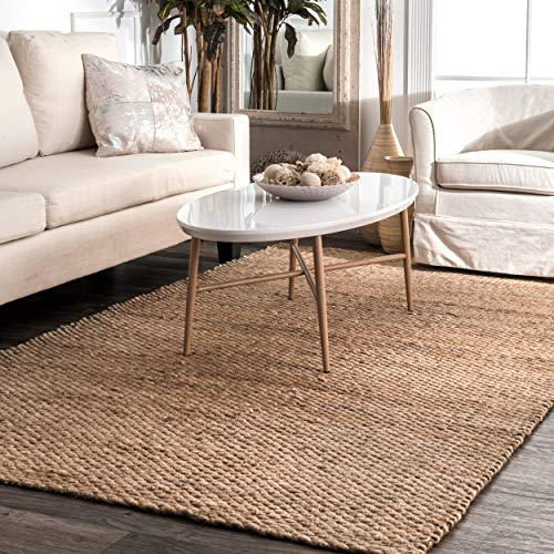 NuLOOM Hailey Handwoven Accent Jute Rug 2 X 3 Natural 0