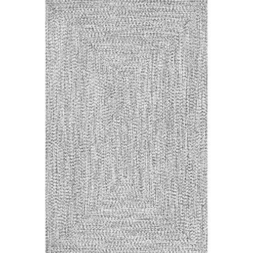 NuLOOM Lefebvre Braided IndoorOutdoor Rug 2 X 3 Light Grey 0 0