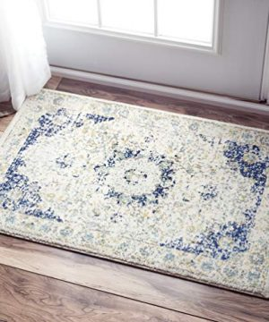 NuLOOM Paisley Verona Vintage Persian Accent Rug 2 X 3 Blue 0 300x360