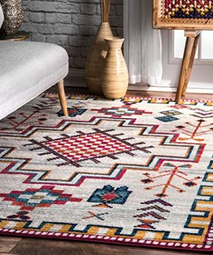 NuLOOM Richelle Tribal Medallion Accent Rug 2 X 3 Silver 0 300x360