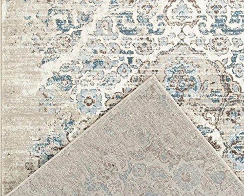 4620 Distressed Cream 65x92 Area Rug Carpet Large New 0 2