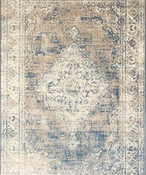 A2Z Rug Vintage Traditional Design Santorini Collection Area Rugs Blue 4 X 6 0 0 300x360