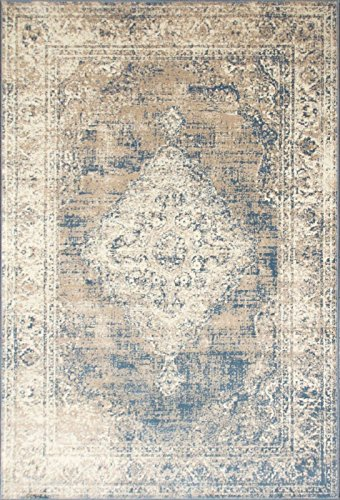A2Z Rug Vintage Traditional Design Santorini Collection Area Rugs Blue 4 X 6 0 0