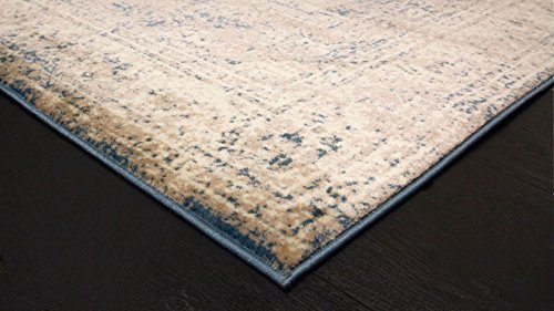 A2Z Rug Vintage Traditional Design Santorini Collection Area Rugs Blue 4 X 6 0 3