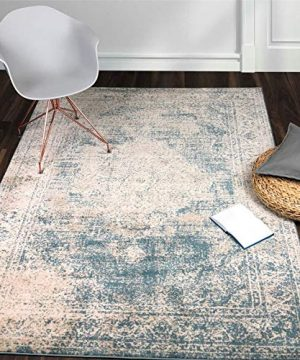 A2Z Rug Vintage Traditional Design Santorini Collection Area Rugs Blue 4 X 6 0 300x360