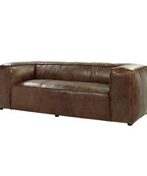 ACME Brancaster Sofa Retro Brown Top Grain Leather 0 300x360