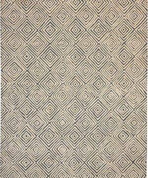 Amazon Brand Rivet Contemporary Diamond Patterned Area Rug 106 X 8 Grey Ivory 0 0 300x360