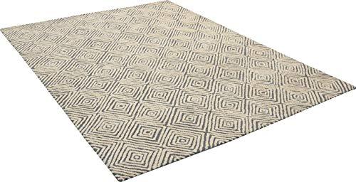Amazon Brand Rivet Contemporary Diamond Patterned Area Rug 106 X 8 Grey Ivory 0 1