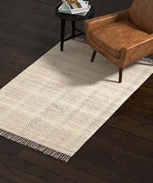 Amazon Brand Rivet Modern Textured Area Rug 4 X 6 Foot Grey White 0 300x360