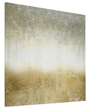 Amazon Brand Stone Beam Abstract Grey And Gold Print On Canvas Wall Art 43 X 43 0 0 300x360