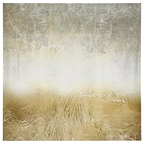 Amazon Brand Stone Beam Abstract Grey And Gold Print On Canvas Wall Art 43 X 43 0