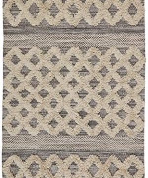 Amazon Brand Stone Beam Modern Textured Subtle Bohemian Area Rug 4 X 6 Foot Grey And White Multicolor 0 0 300x360