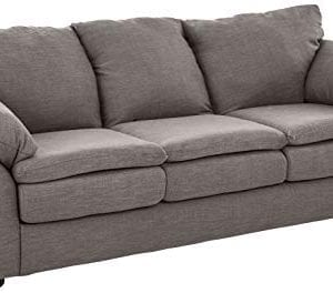 Amazon Brand Ravenna Home Darian Oversized Pillow Sofa 92W Light Grey 0 300x264