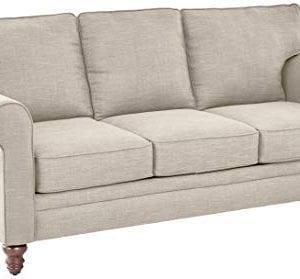 Amazon Brand Ravenna Home Randall Rolled Arm Sofa 83W Cream 0 300x279