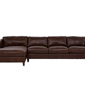 Amazon Brand Stone Beam Andover Left Facing Sofa Chaise Sectional 126W Driftwood Leather 0 0 300x360