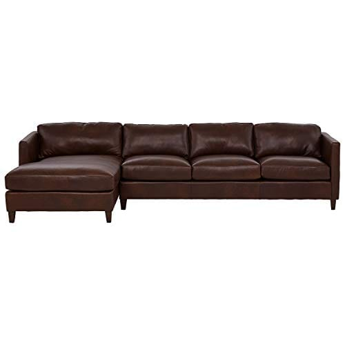 Amazon Brand Stone Beam Andover Left Facing Sofa Chaise Sectional 126W Driftwood Leather 0 0