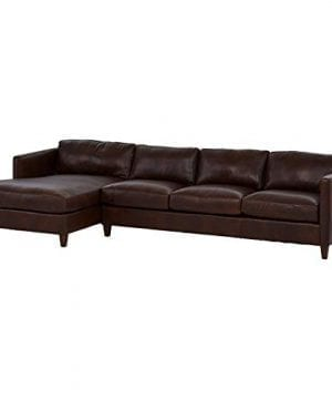 Amazon Brand Stone Beam Andover Left Facing Sofa Chaise Sectional 126W Driftwood Leather 0 1 300x360