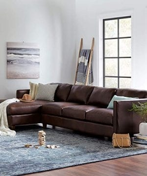 Amazon Brand Stone Beam Andover Left Facing Sofa Chaise Sectional 126W Driftwood Leather 0 3 300x360