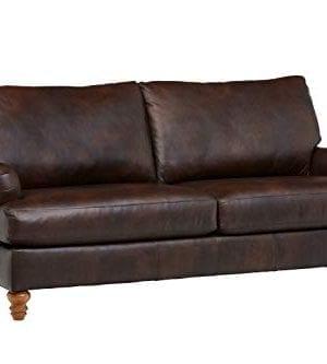 Amazon Brand Stone Beam Brandeberry Leather Sofa 82W Driftwood 0 300x333
