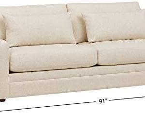 Amazon Brand Stone Beam Calhoun Fabric Sofa 91W Ecru 0 2 300x235
