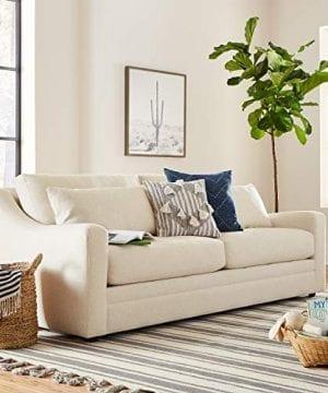 Amazon Brand Stone Beam Calhoun Fabric Sofa 91W Ecru 0 4 300x360