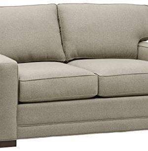 Amazon Brand Stone Beam Dalton Performance Fabric Loveseat Sofa 635W Stone 0 300x307