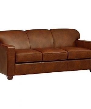Amazon Brand Stone Beam Fischer Queen Sized Sleeper Sofa 79W Chestnut Leather 0 300x360
