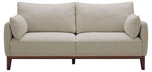 Amazon Brand Stone Beam Hillman Mid Century Sofa With Tapered Legs And Removable Cushions 78W Ivory 0 0