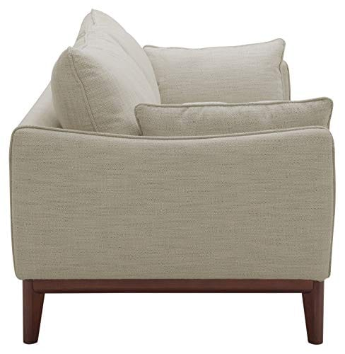 Amazon Brand Stone Beam Hillman Mid Century Sofa With Tapered Legs And Removable Cushions 78W Ivory 0 1