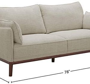 Amazon Brand Stone Beam Hillman Mid Century Sofa With Tapered Legs And Removable Cushions 78W Ivory 0 2 300x279
