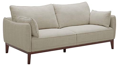 Amazon Brand Stone Beam Hillman Mid Century Sofa With Tapered Legs And Removable Cushions 78W Ivory 0
