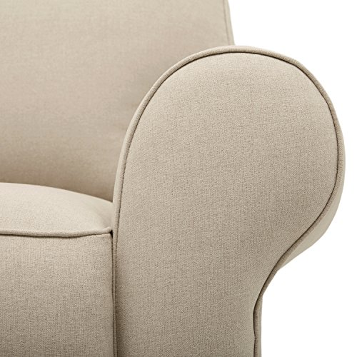 Amazon Brand Stone Beam Kristin Round Arm Performance Fabric Loveseat Sofa Couch 76W Sand 0 0