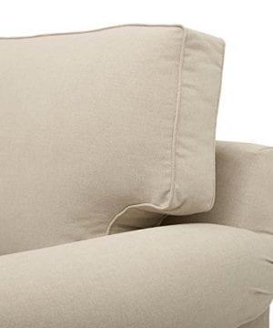 Amazon Brand Stone Beam Kristin Round Arm Performance Fabric Loveseat Sofa Couch 76W Sand 0 1 300x360