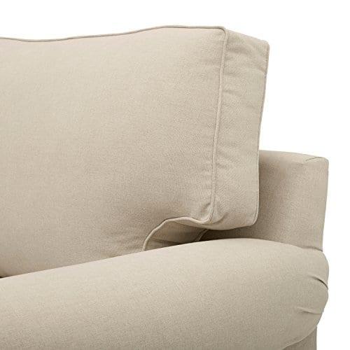 Amazon Brand Stone Beam Kristin Round Arm Performance Fabric Loveseat Sofa Couch 76W Sand 0 1