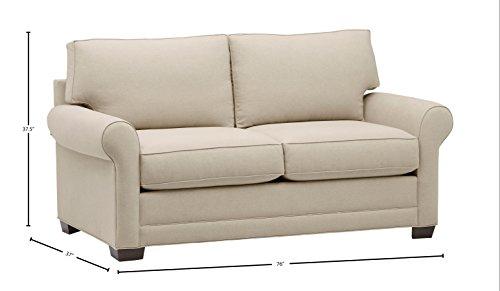 Amazon Brand Stone Beam Kristin Round Arm Performance Fabric Loveseat Sofa Couch 76W Sand 0 2