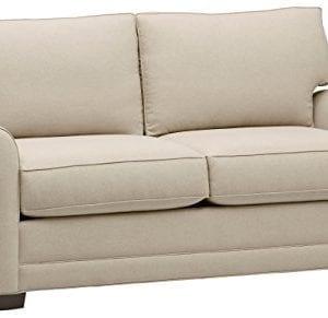 Amazon Brand Stone Beam Kristin Round Arm Performance Fabric Loveseat Sofa Couch 76W Sand 0 300x291