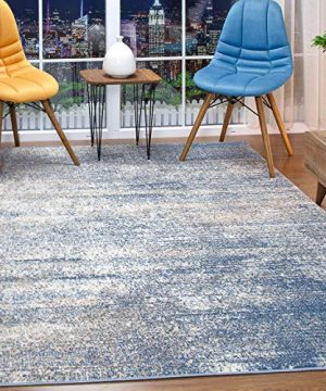 Antep Rugs Florida Collection Distressed Modern Abstract Polypropylene Indoor Area Rug Blue 8 X 10 0 300x360