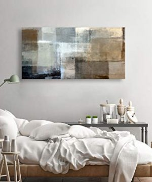 Baisuart Canvas Prints Abstract Wall Art Print Paintings Grey And Brown Stretched Canvas Wooden Framed For Living Room Bedroom And Office Home Decor Artwork 20x40inch 0 0 300x360