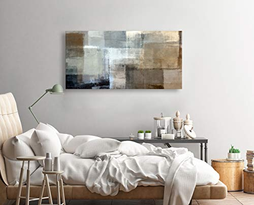 Baisuart Canvas Prints Abstract Wall Art Print Paintings Grey And Brown Stretched Canvas Wooden Framed For Living Room Bedroom And Office Home Decor Artwork 20x40inch 0 0