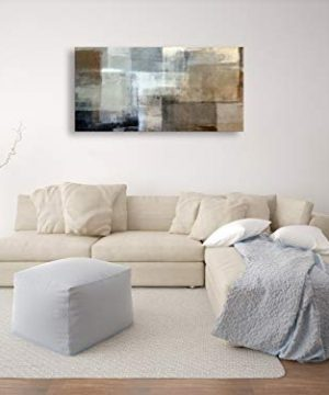 Baisuart Canvas Prints Abstract Wall Art Print Paintings Grey And Brown Stretched Canvas Wooden Framed For Living Room Bedroom And Office Home Decor Artwork 20x40inch 0 1 300x360