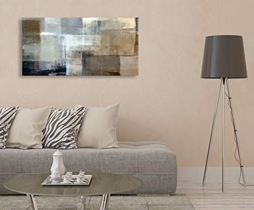 Baisuart Canvas Prints Abstract Wall Art Print Paintings Grey And Brown Stretched Canvas Wooden Framed For Living Room Bedroom And Office Home Decor Artwork 20x40inch 0 2