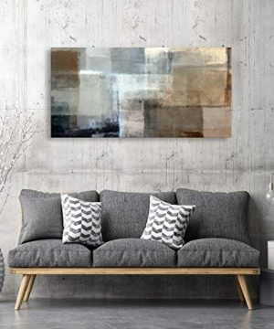 Baisuart Canvas Prints Abstract Wall Art Print Paintings Grey And Brown Stretched Canvas Wooden Framed For Living Room Bedroom And Office Home Decor Artwork 20x40inch 0 4 300x360