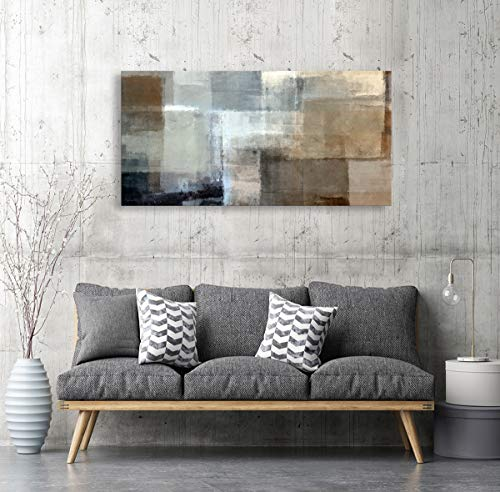 Baisuart Canvas Prints Abstract Wall Art Print Paintings Grey And Brown Stretched Canvas Wooden Framed For Living Room Bedroom And Office Home Decor Artwork 20x40inch 0 4