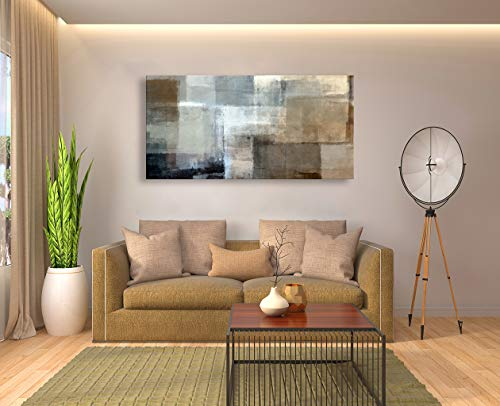 Baisuart Canvas Prints Abstract Wall Art Print Paintings Grey And Brown Stretched Canvas Wooden Framed For Living Room Bedroom And Office Home Decor Artwork 20x40inch 0 5