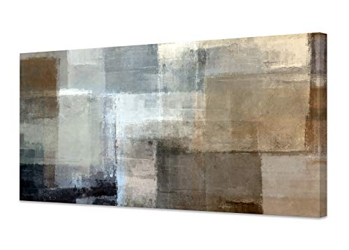Baisuart Canvas Prints Abstract Wall Art Print Paintings Grey And Brown Stretched Canvas Wooden Framed For Living Room Bedroom And Office Home Decor Artwork 20x40inch 0