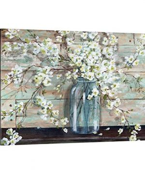 Blossoms In Mason Jar Canvas Wall Art Print 30x20x125 0 300x360