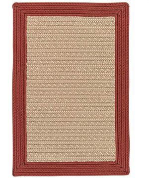 Colonial Mills 6 X 9 Brick Red Farmhouse Rustic Style Braided Rug 0 300x360